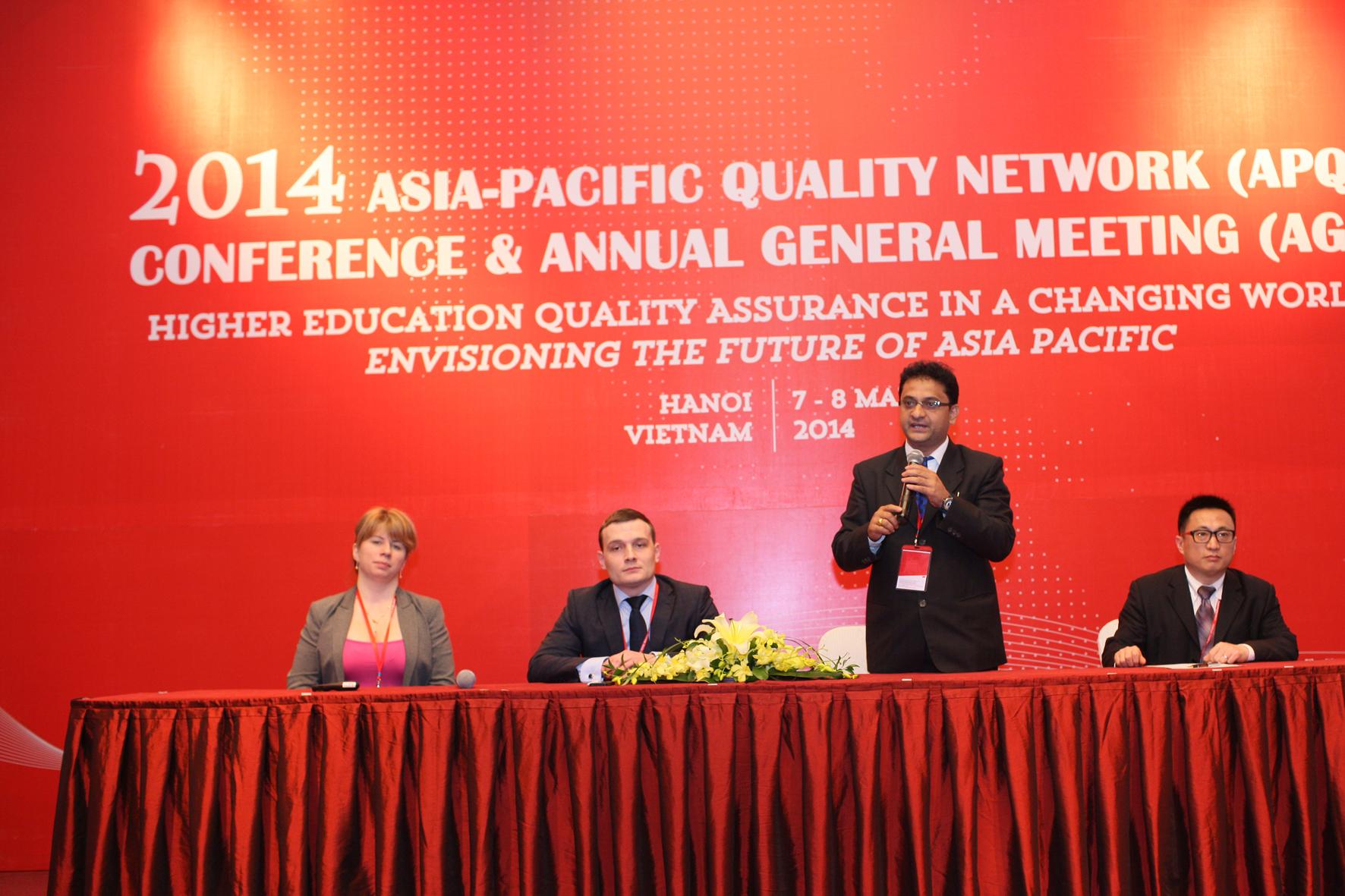 """Боловсролын магадлан итгэмжлэх vндэсний зөвлөл Ази, номхон далайн чанарын сvлжээ байгууллагын /APQN/ """"2014 оны Чанарын Баталгаажуулалтын Шилдэг олон улсын харилцаатай байгууллага""""-аар шалгарлаа"""